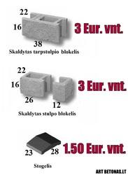 Blokeliai tvorai kaina